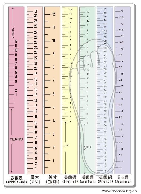 Uk And Us Kids Shoes Size Chart