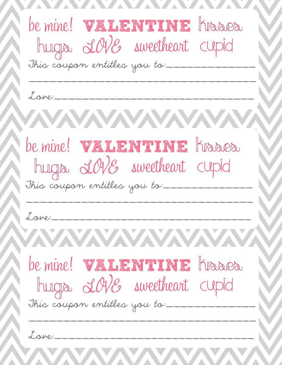 Imprimibles Vales  Cupones De Amor Para San Valentn Recopilacin