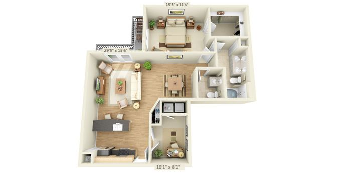 Legacy Village Apartment Homes Calabria At Lakeside Floor Plan Layout Small House Design Plans Sims House Plans Small Apartment Plans
