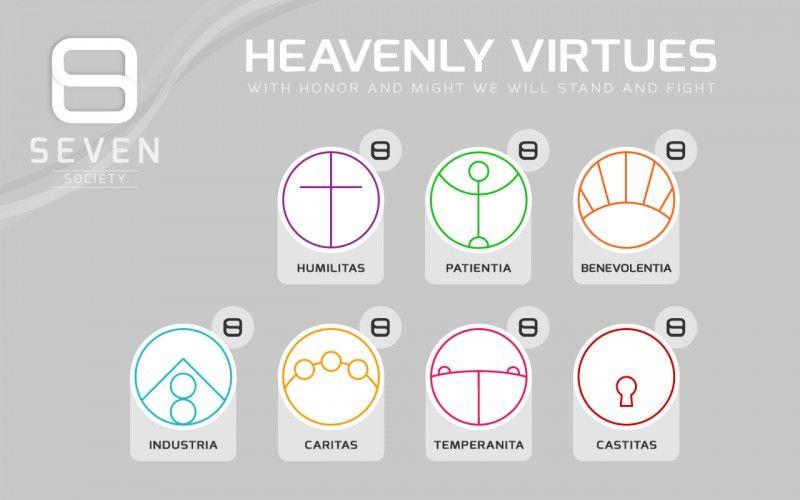 seven society heavenly virtues