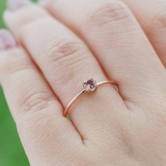 Simple Engagement Ring Diamond Dainty Ring 9k White Gold Ring Her Gift Wife Diamond Ring Valentine Promise Ring 1.5CT Diamond Ring