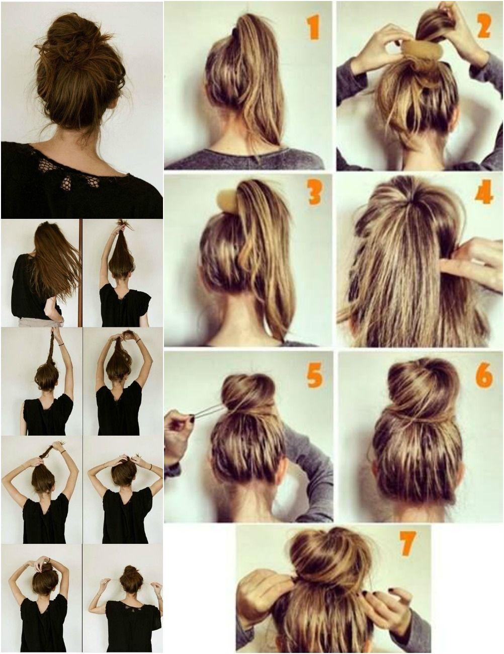 12 Perfect Hair Buns Hair Bun Tutorial Hair Styles Hair Hacks