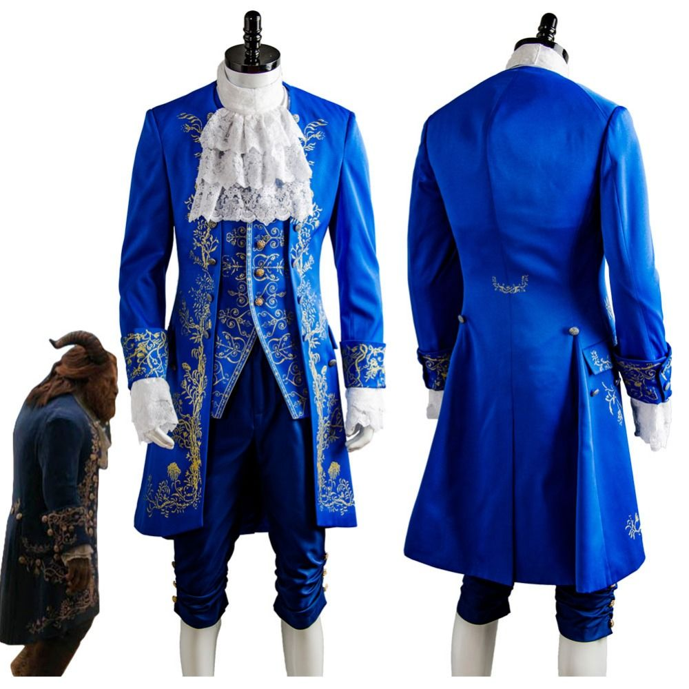 2017 Adult Beauty and the Beast The Beast Le Prince Adam Fancy Cosplay Costume