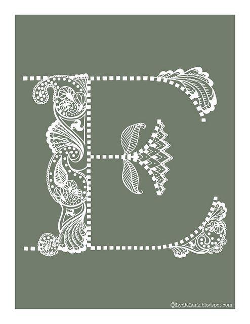 Henna Tattoo Alphabet: Henna Alphabet Letter E Via LydiaLark