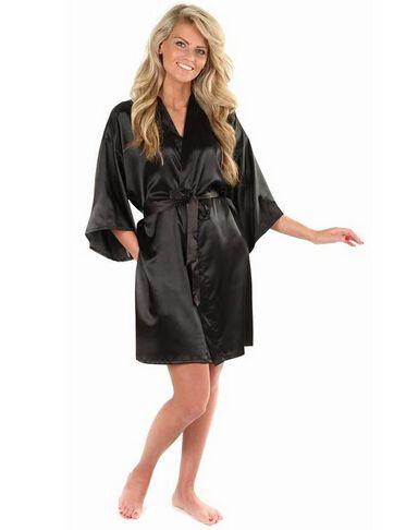 c0dc6cf676d Faux silk robe bath gown   Price   19.50   FREE Shipping     sleepwear   nightwear  sleepingdress  pajamas  pyjamas  freeshipping  hello. New Black  Chinese ...