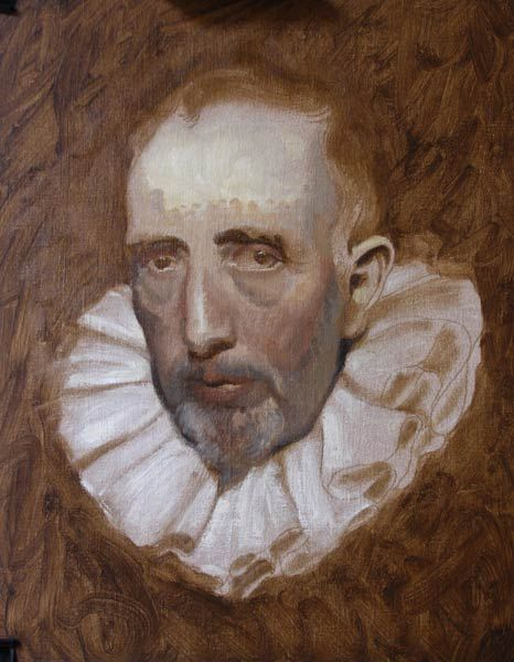 adding color to underpainting raw umber underpainting old master