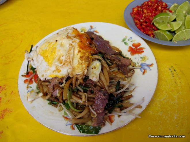 cambodia street food fried noodles cambodian