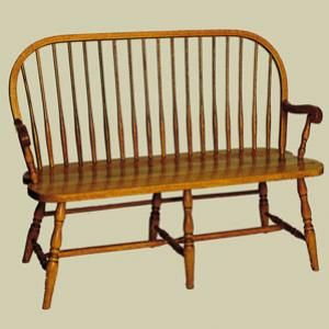 Redux Antique Benches Heritage Charter Bow Back Windsor Bench
