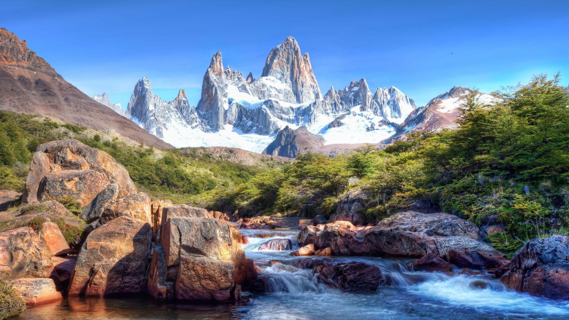 Wallpaper Caucasus Mountains, 4k, 5k wallpaper, lake