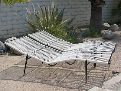 mid century eames era patio contour chaise lounges not brown