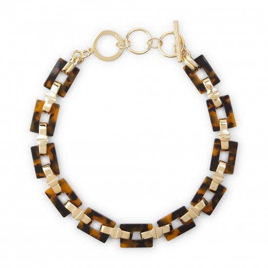C.Wonder tortoise and gold link necklace $68