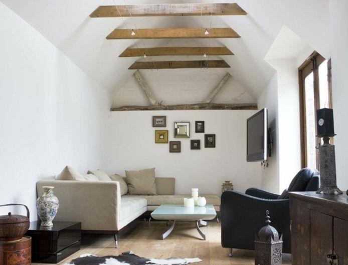 ▷ 1001 conseils et idées pour aménager un salon rustique