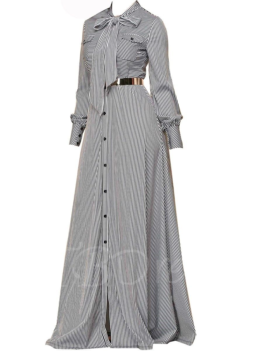 Tieneck button long sleeve womenus maxi dress dresses pinterest