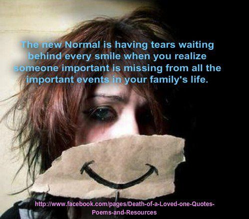 The new Normal is having tears waiting behind every smile