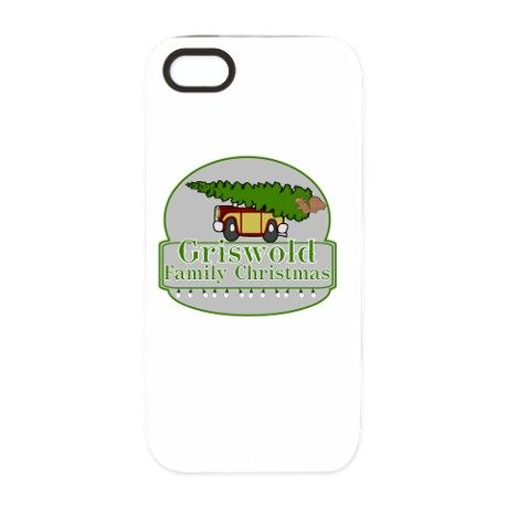 Griswold Family Christmas iPhone 5 Tough Case  #Griswold Family #Christmas with station wagon, Christmas tree and squirrel #ClarkGriswold