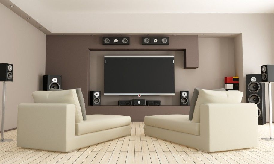 ... Small Home Theatre Design Interior Outstanding Home Theater Interior Design With Maple Wooden Slatted Flooring ...