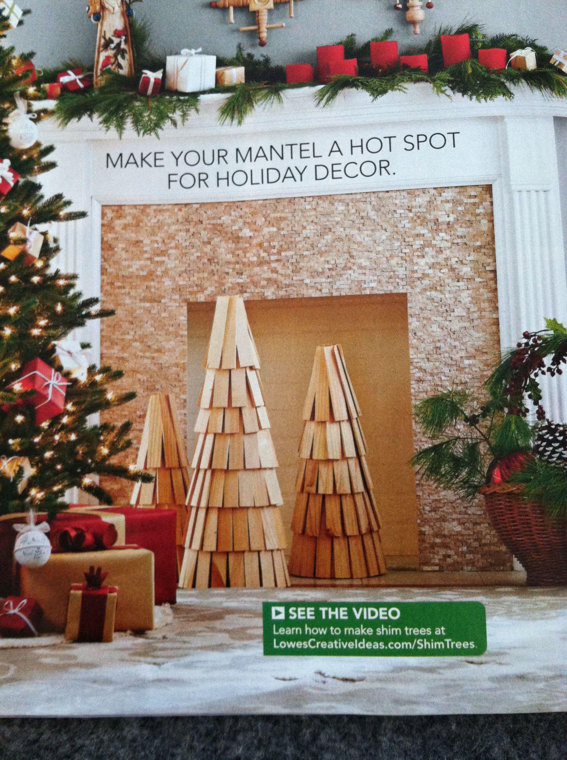 Lowes Creative Ideas shim trees Christmas Pinterest
