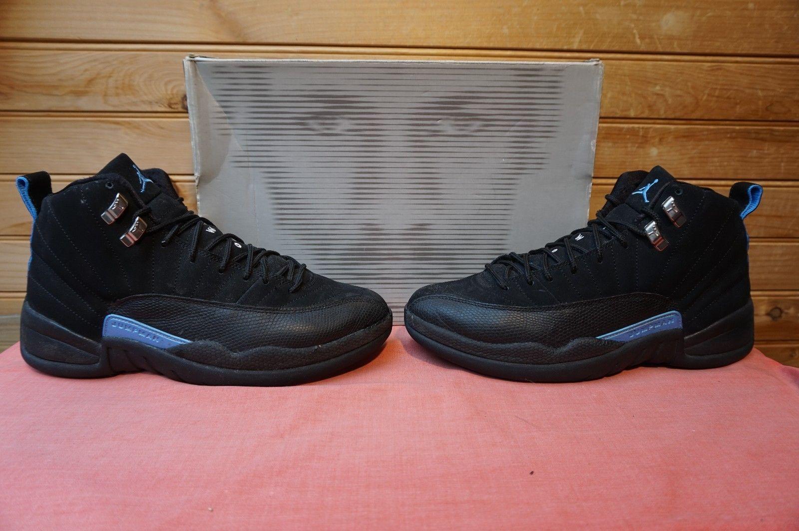 3f6c711198d Nike Air Jordan 12 Retro Nubuck Black White University Blue Size 8 (1201)