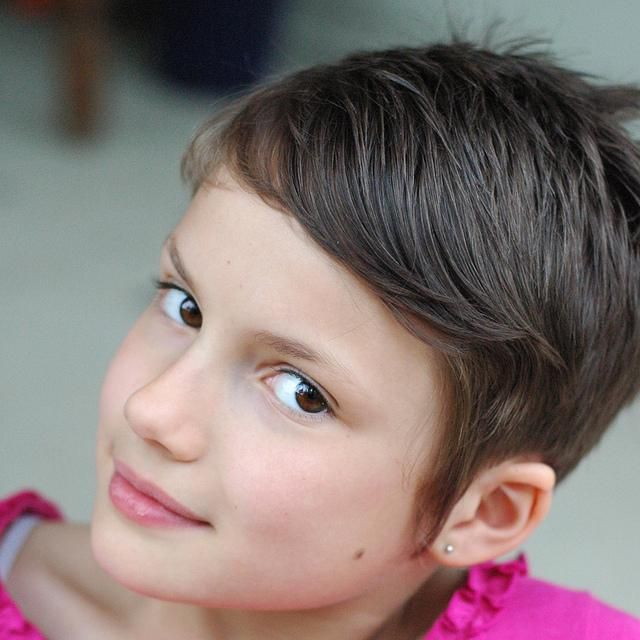 Little Girl With A Short Pixie Cut Haircuts Pinterest
