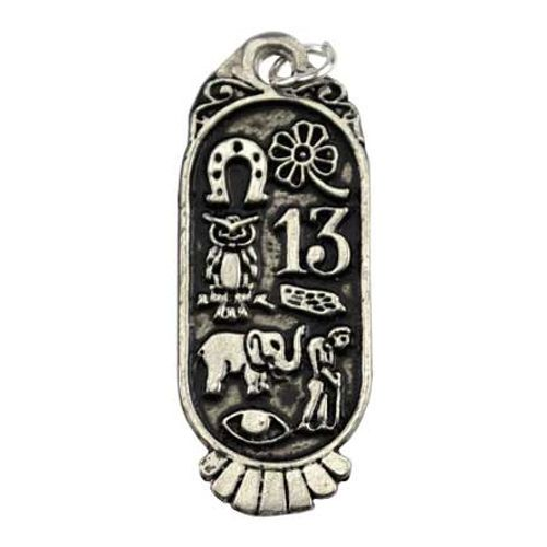 Lucky 8 Symbols Good Luck Charm Distressed Antique Style 15