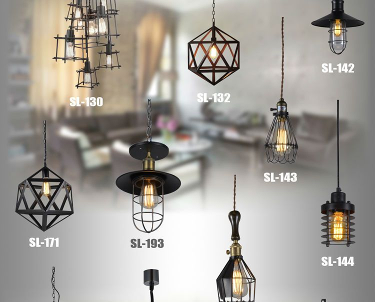 Review Small hob cages droplight rural industrial American meals hanging bar LED spider pendant lamp light Contemporary - New small lantern pendant light Review
