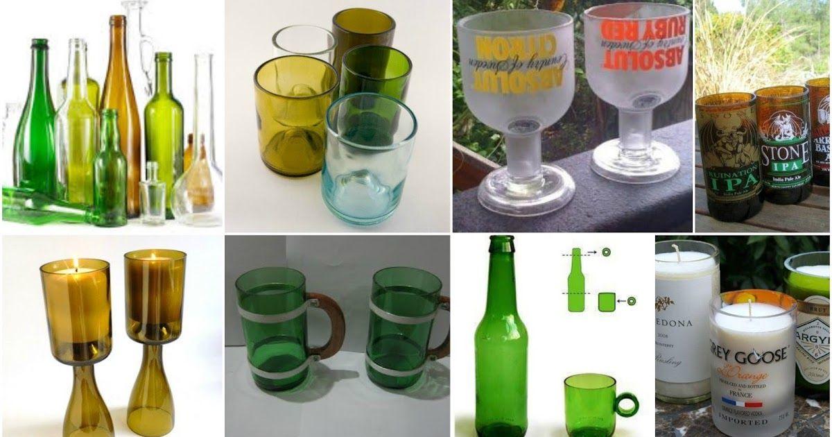 Como Hacer Lamparas Con Botellas De Vidrio Recicladas Aprende Como Hacer Vasos Y Copas Con Botellas De Vidrio Reciclados