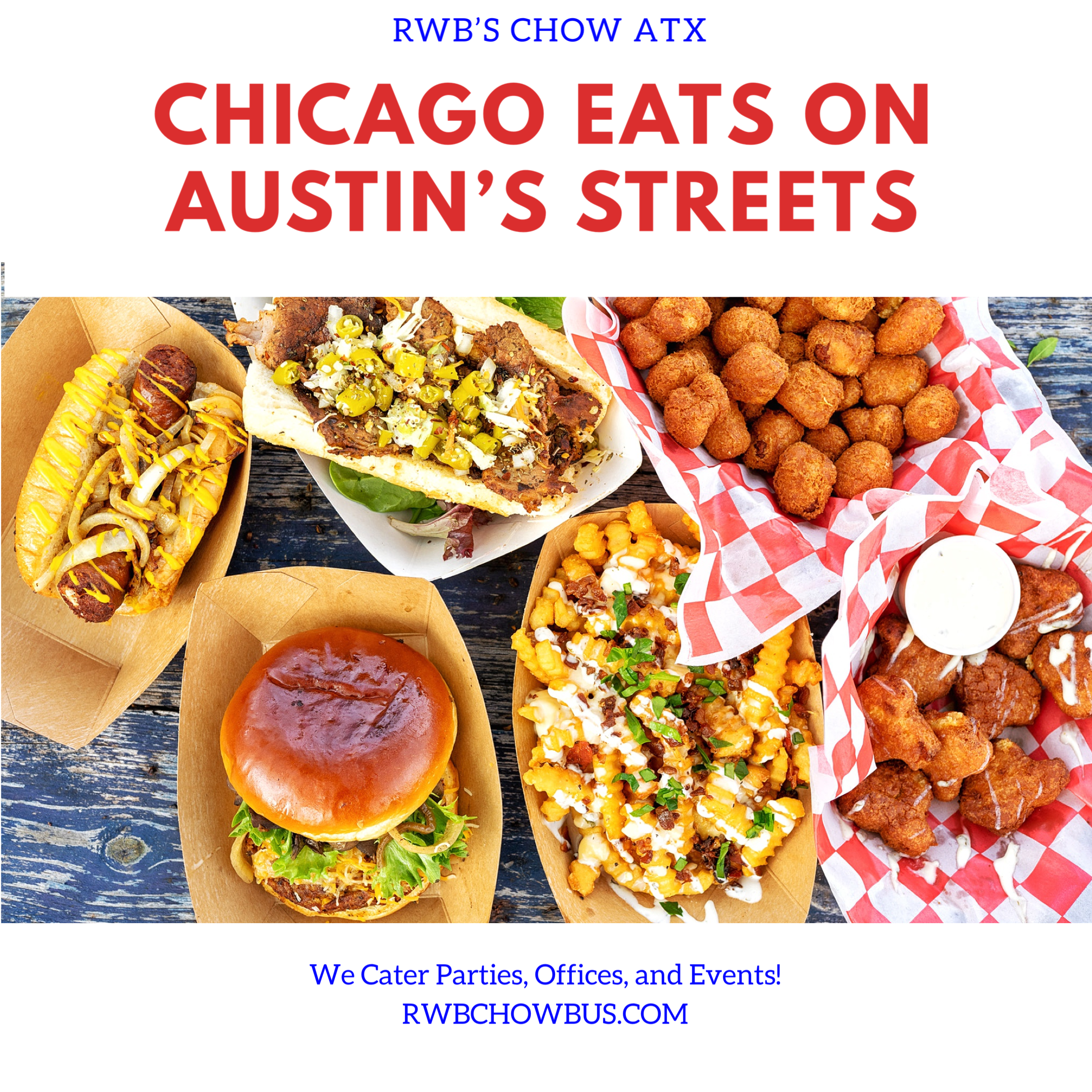 Chicago Eats On Austin S Streets What Could Be Better Oh That S Right It Being Delivered Directly To You We Cater P In 2020 Catering Catering Food Chicago Eats