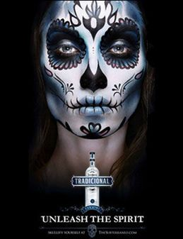 day of the dead face painting - Halloween Skull Painted Face