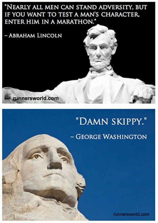 Abe Lincoln and George Washington have some wise words