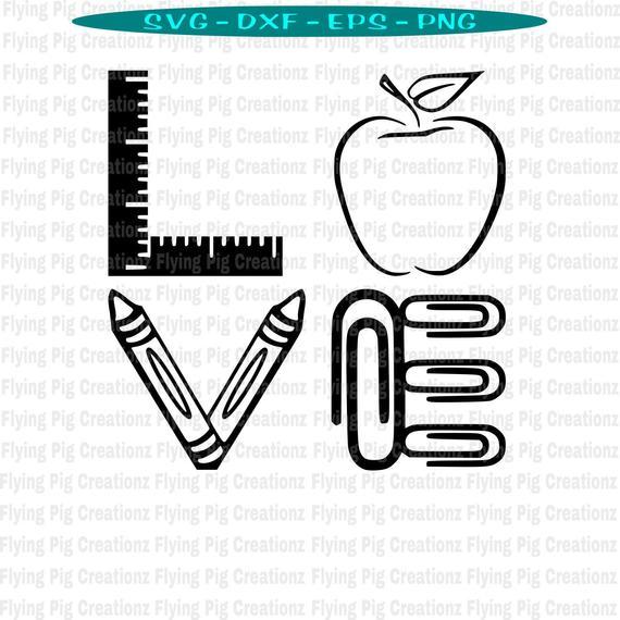 Download Teacher svg, Teacher Love svg, Love Teacher svg, Apple of ...