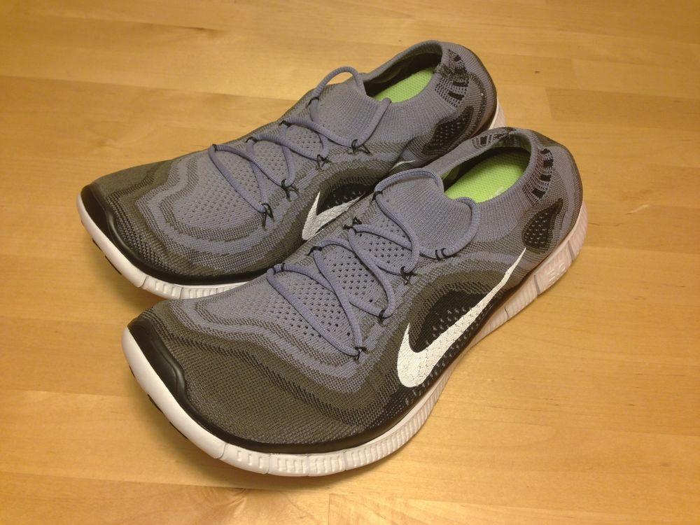 new product ever popular amazon Nike FREE Flyknit+ 5.0 MEN'S SIZ 8 - Iron Purple Black Grey 615805 ...
