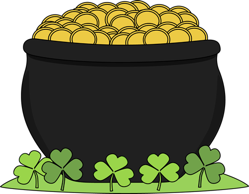 pot of gold and shamrocks st patricks day clip art pinterest rh pinterest com clipart leprechaun pot of gold pot of gold clipart black and white