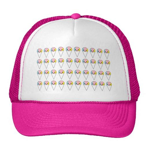 8ad8ea17454 Cute Snow Cones pink hat. Customizable hat features cute colorful ...