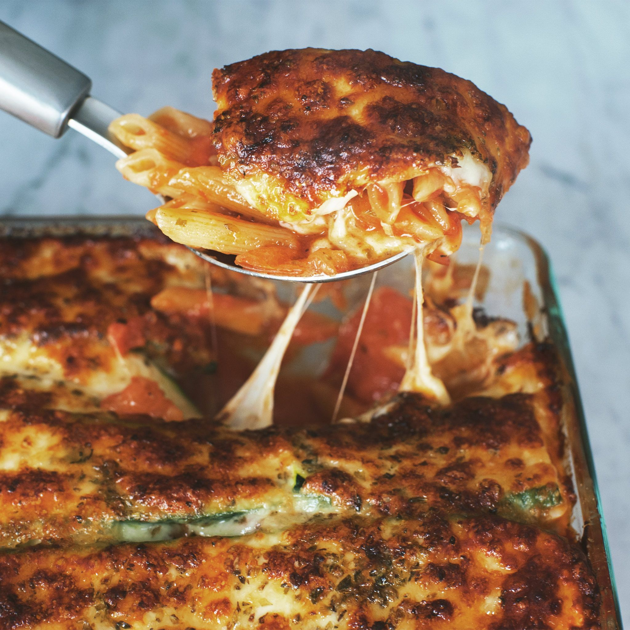 Photo of Pasta bake with tomatoes and zucchini | Recipe with video | Kitchen stories