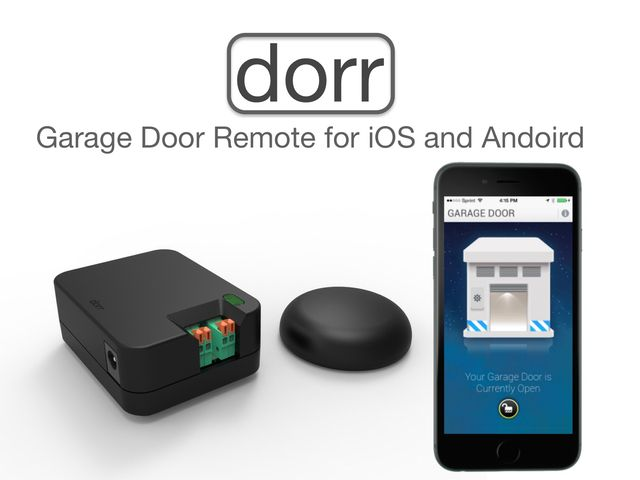 Dorr Lets You Check The Status Of Your Garage Door And Control It