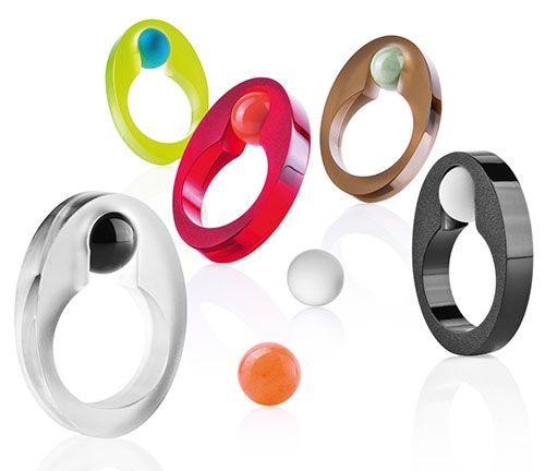 Thomas Giesen Rings: Cliccmi Acrylic, gemstone