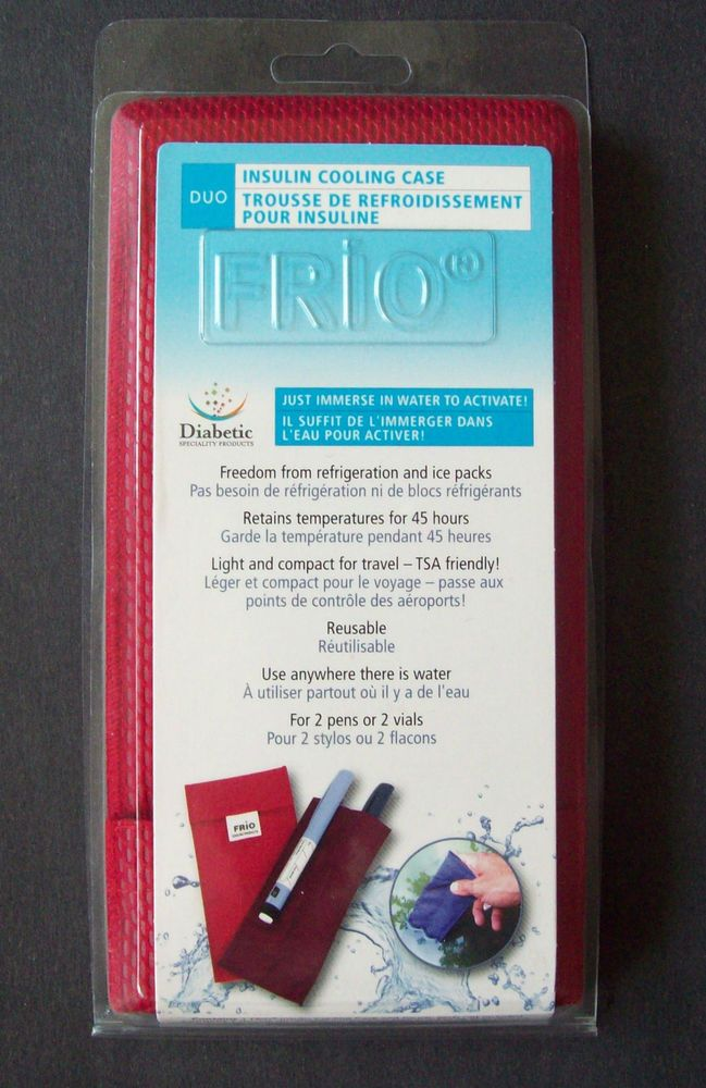 Frio Reusable Insulin Cooling Case For Two Pens Or Two Vials Diabetics 66999fc Vials Novo Nordisk Type 1 Diabetes
