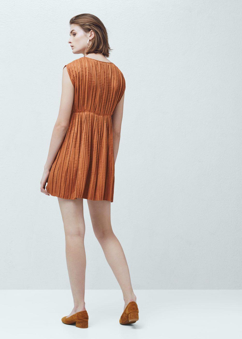 Vestido plissado | MANGO