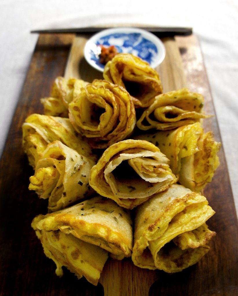chinese breakfast egg crepes mmmmm