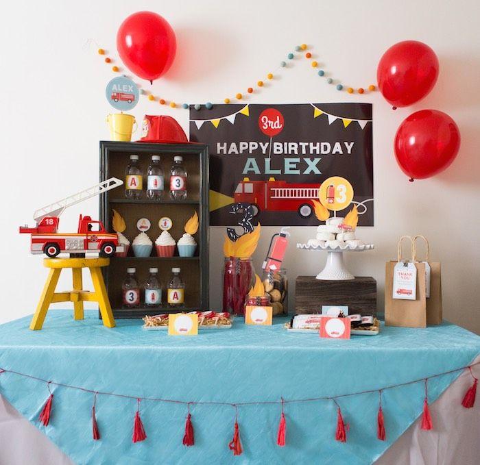 Kara S Party Ideas Fireman Birthday Party Kara S Party Ideas