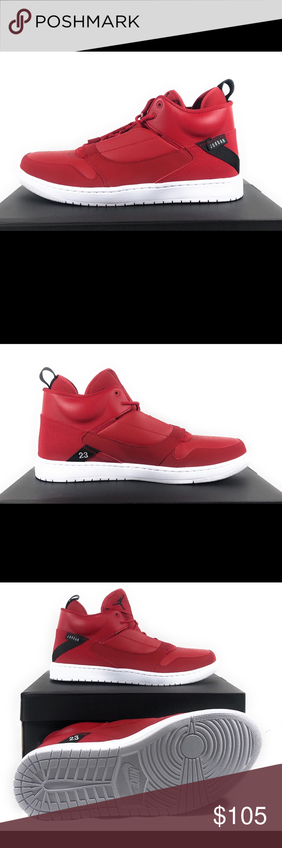 642cbb033c3f Nike Jordan Fadeaway Men s Basketball Sneakers Nike Jordan Fadeaway Men s  Mid Top Red Basketball Sneakers AO1329-600 Size  11.5 Condition  NWB  Measurement  ...