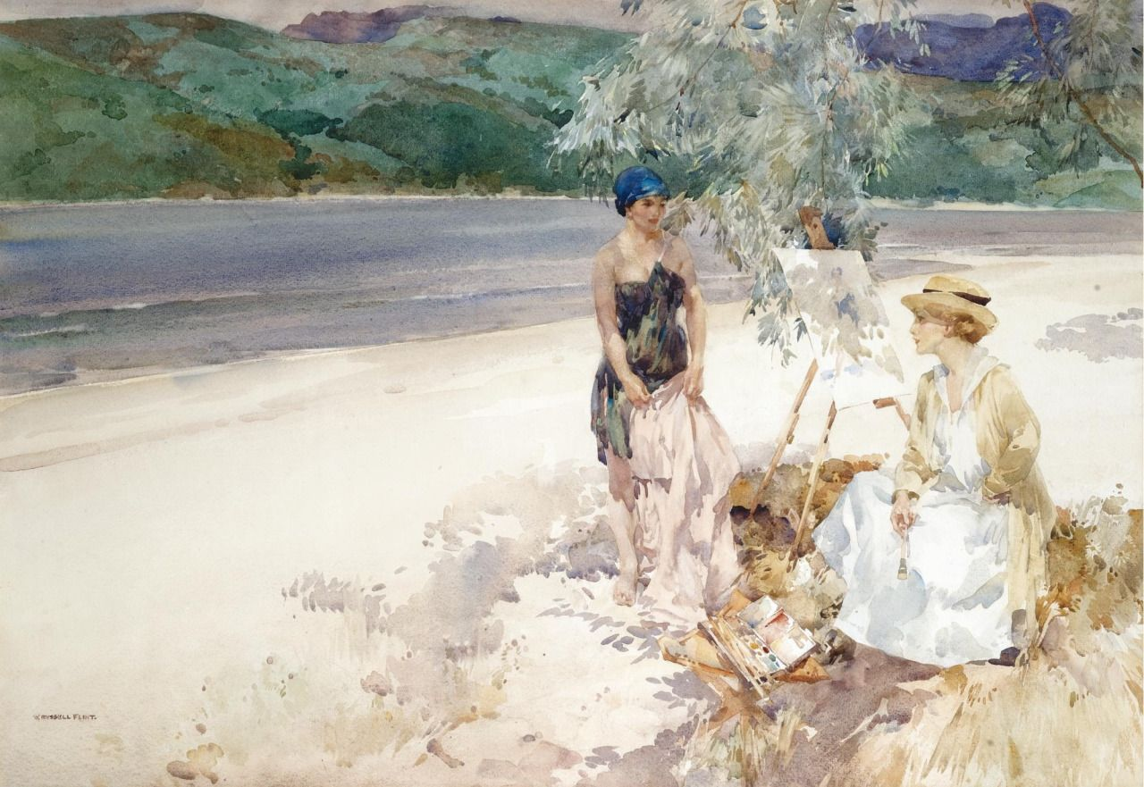 Books0977 On A West Highland Beach 1918 Sir William Russell