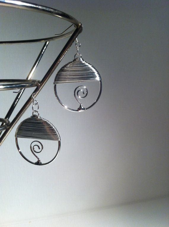 Wire Wrapped Hoop Earrings $8.00