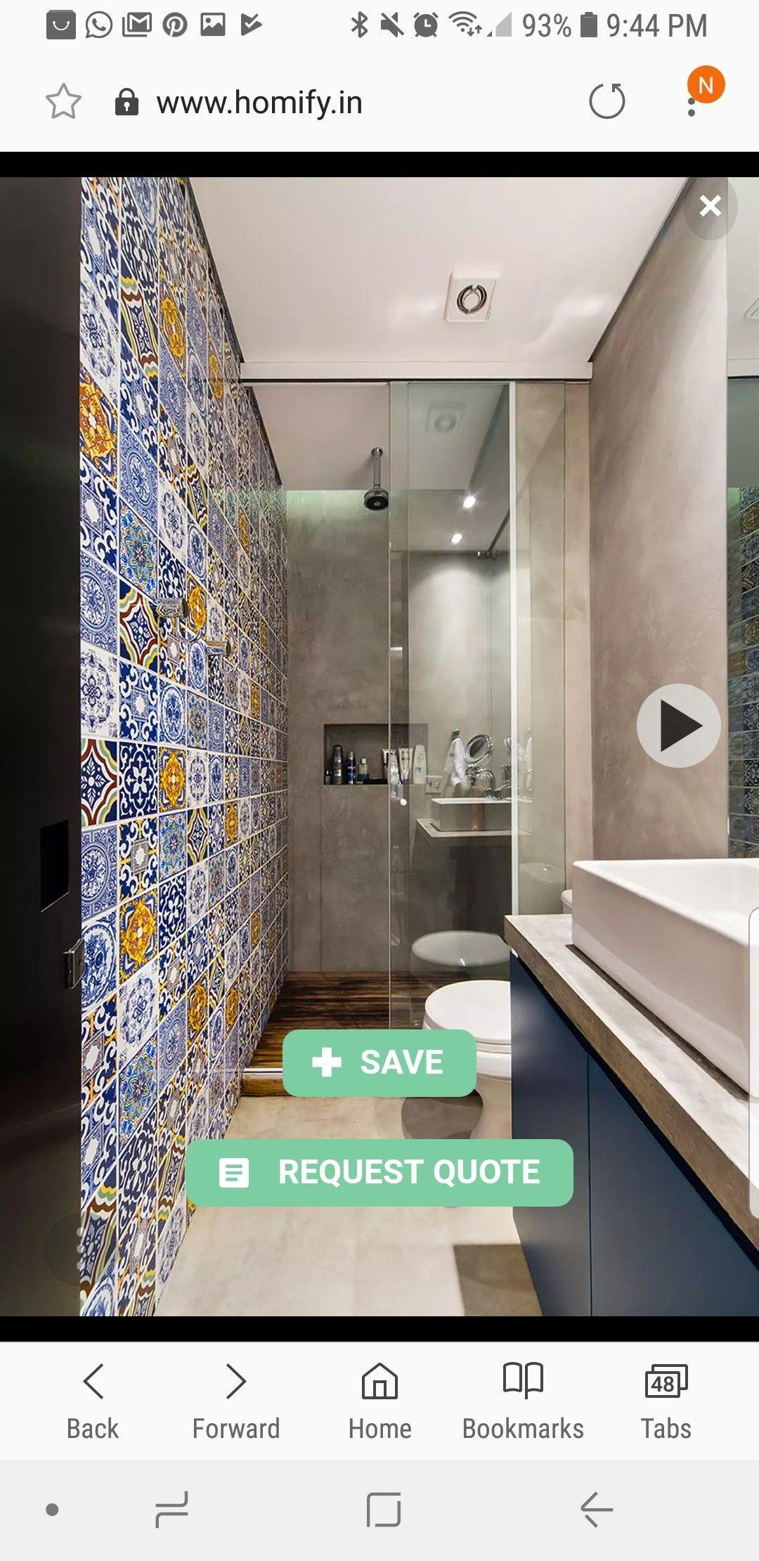 Small Space Indian Bathroom Tiles Design