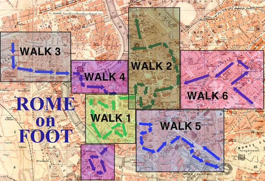 Walking Map of Rome
