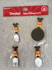 Disney Park Mickey Mouse Kitchen Tools Vinyl Magnet Set of 4 NEW