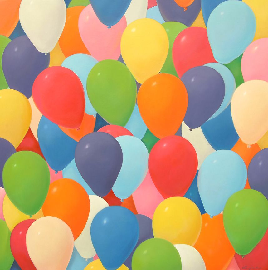 "Saatchi Art Artist Jinho Kee; Painting, ""balloons-hope"" #balloon, #Mementomori, #SouthKorea, #life, #hope, #dream, #realism, #photorealism, #carpediem, #painting, #JinhoKee #oilpainting #love  #exhibition #painting #finearts #saatchi"