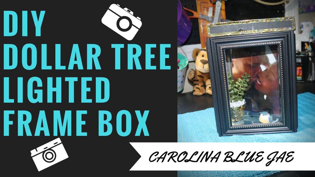 DIY 9 DOLLAR TREE LIGHTED FRAME BOX Dollar tree frames