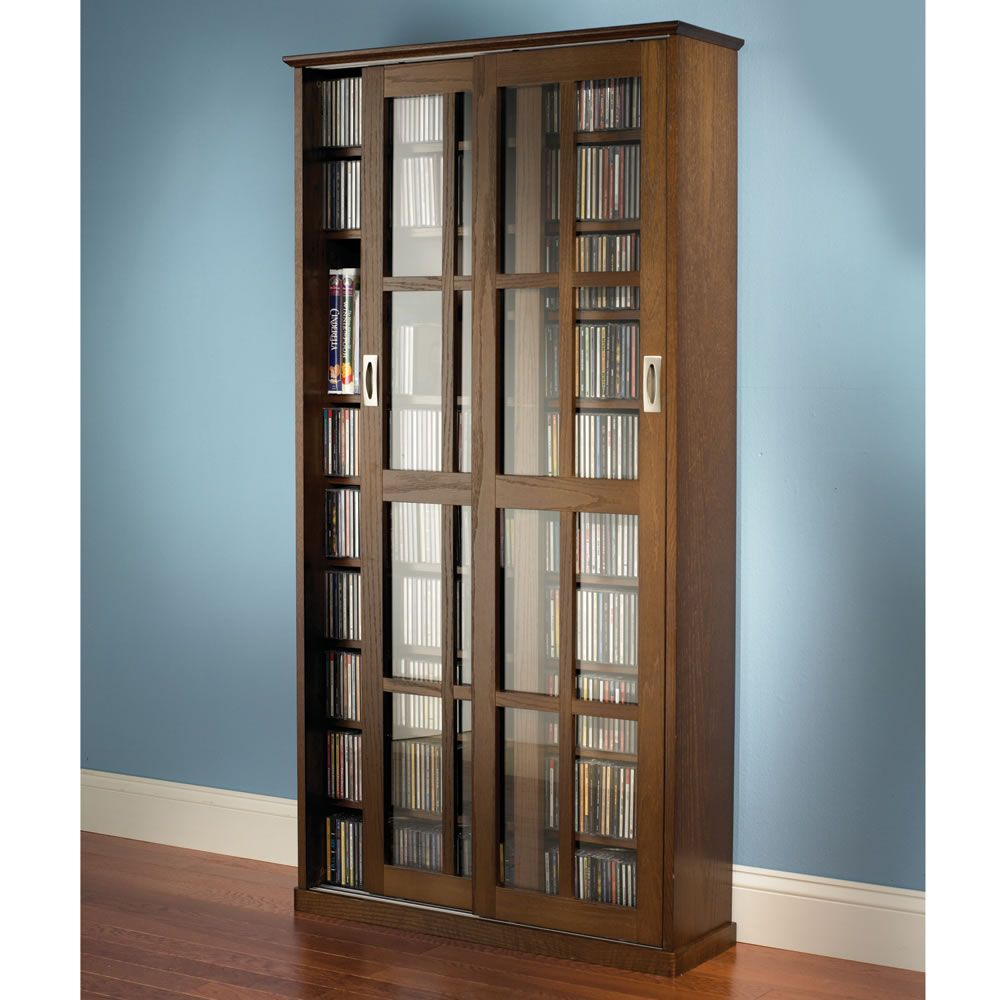 Inspirational Cd Cabinet with Glass Doors