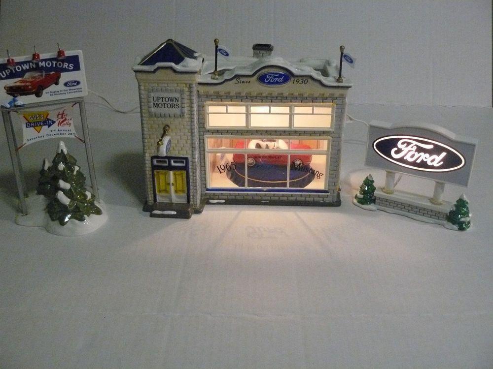 Uptown Motors Ford The Original Snow Village